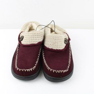 Earth Spirit Cloudease maroon suede slippers 7